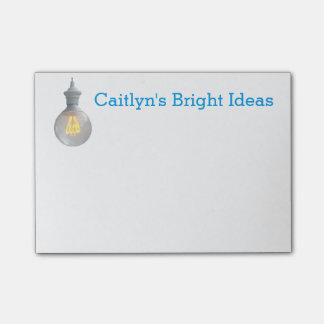 Ljus mall för namn för anpassningsbar för post-it lappar