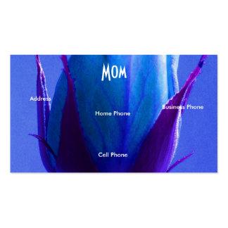 Ljus mamma - grön blåttro set av standard visitkort