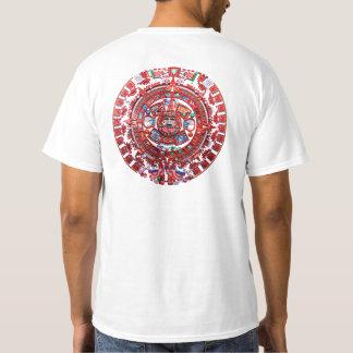 Ljus Mayan kalender Tee Shirts