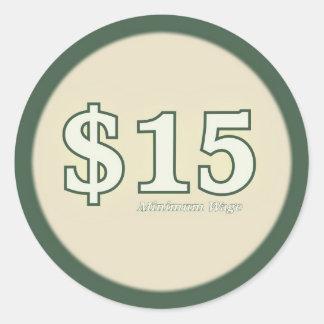 Ljus minimum klistermärke för timpenning $15 -