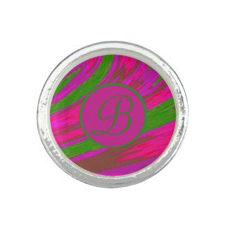 Ljus Monogram för Swish för rosagröntfärg Fotoring
