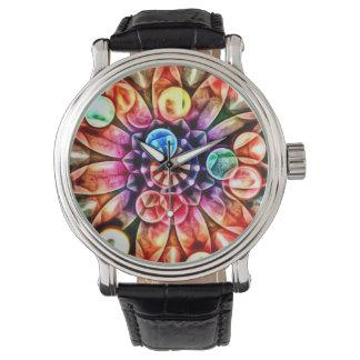 Ljus multifärgadblommaKaleidoscope Armbandsur