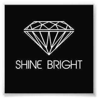 Ljus något liknande för sken en diamant fototryck