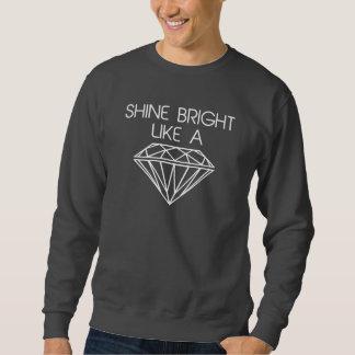 Ljus något liknande för sken en diamant långärmad tröja