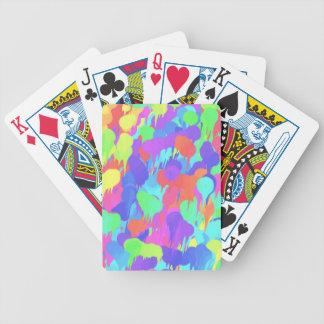 Ljus neonpastell målar stänk spelkort
