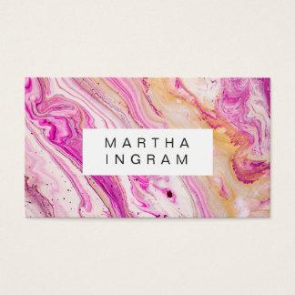Ljus ny rosa guld- vit för konstdesignabstrakt visitkort