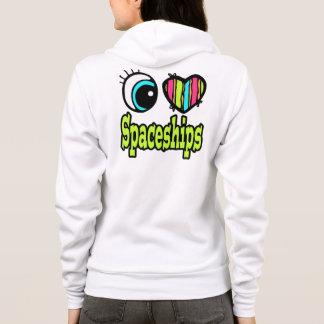 Ljus ögahjärta älskar jag Spaceships T-shirt