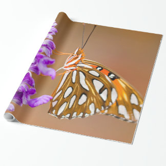 Ljus orange buktFritillaryfjäril Presentpapper