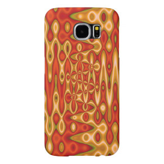 Ljus orange guldabstrakt samsung galaxy s6 fodral