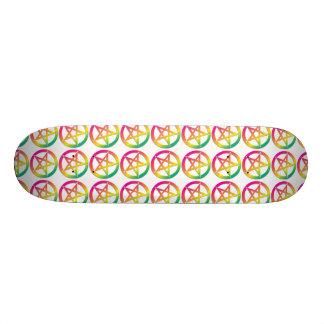 Ljus pentacleskateboard mini skateboard bräda 18,5 cm