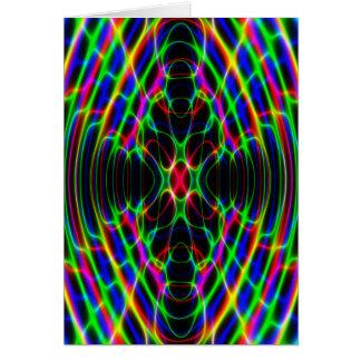 Ljus Psychedelic abstrakt för neonlaser Hälsningskort