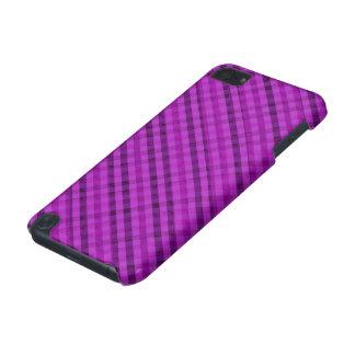 Ljus purpurfärgad pläd - beställnings- fodral för iPod touch 5G fodral