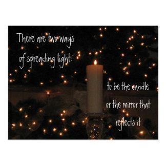 Ljus reflexion vykort