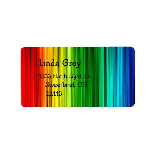 Ljus regnbågeadressetikett adressetikett