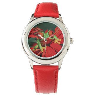 Ljus Röd-Synad groda Armbandsur