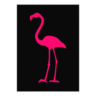 Ljus rosa Flamingo Anpassade Tillkännagivande