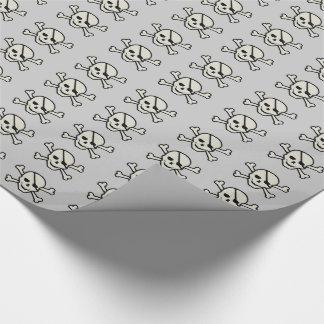 Ljus skalle - - glansigt slående in papper för grå presentpapper