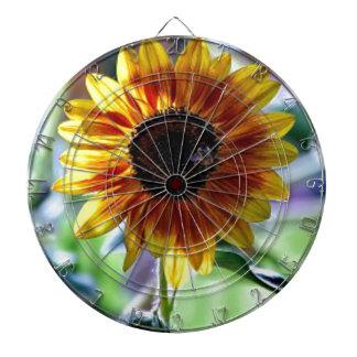 Ljus solros - blom- fotografi piltavla