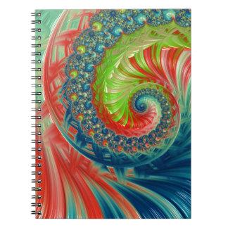 Ljus spiral anteckningsbok