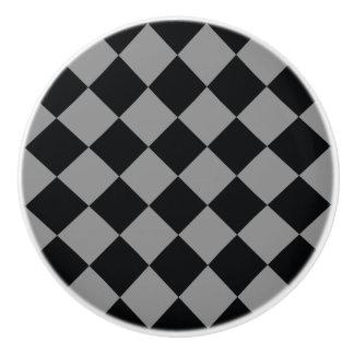 Ljus svart - modernt geometriskt mönster för grå knopp