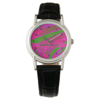 Ljus Swish för rosagröntfärg Armbandsur