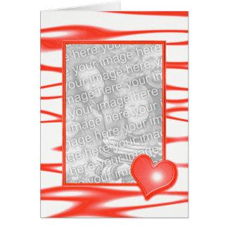 Ljus valentin daghjärta (fotomallen) hälsningskort