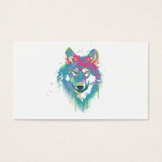 Ljus varg för Splatters för vattenfärger för Visitkort