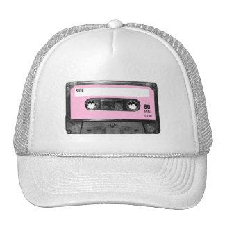 Ljus vintage - rosa kassett keps