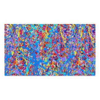 Ljusa blått målar Splatterabstrakt Set Av Standard Visitkort