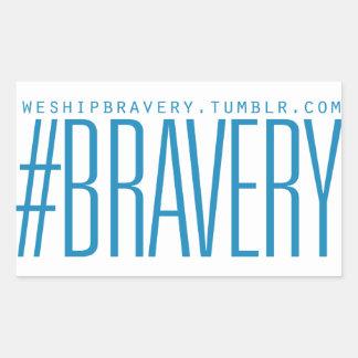 Ljusa #Braverygåvor - - slösar på vit Rektangulärt Klistermärke