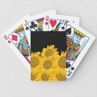 Ljusa gula solrosor spelkort