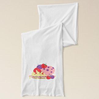 Ljusa jordgubbar och glasskonst sjal
