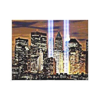 Ljusa New York tvillingbröder strålar Canvastryck