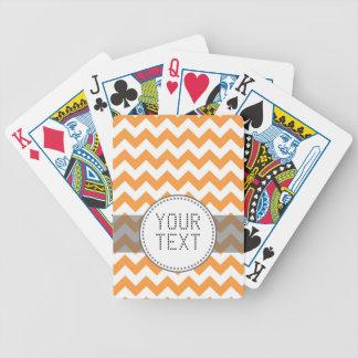 Ljusa orange sparrar - beställnings- text spelkort