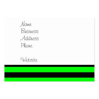 Ljusa randar för för neonlimefruktgrönt och svart visitkort mallar
