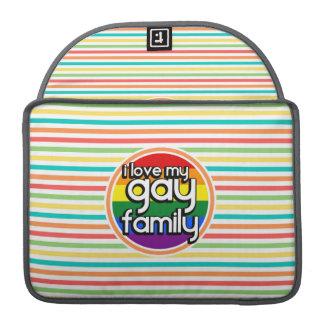 Ljusa regnbågerandar, glad familj sleeves för MacBook pro