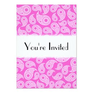 Ljusa rosor och pastellrosor Paisley. 12,7 X 17,8 Cm Inbjudningskort