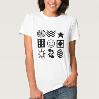 Ljusa symboler för baby t-shirts