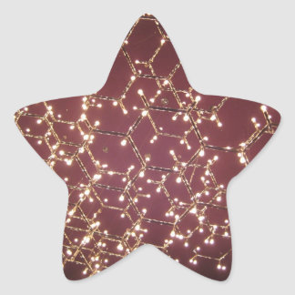Ljuskrona av ljus stjärnformat klistermärke