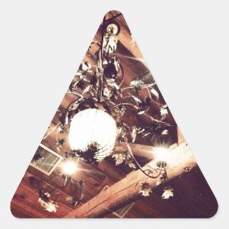 Ljuskrona Triangelformat Klistermärke