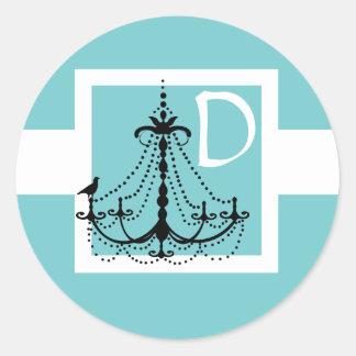 Ljuskronabröllopklistermärke Runt Klistermärke