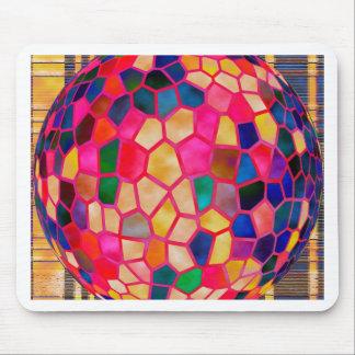 Ljusröd glödande kristallkula för SG Musmatta