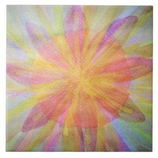 Ljust abstrakt, kaleidoscopevattenfärg kakelplatta