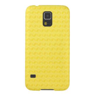 Ljust applådera för kuber för gult 3D Galaxy S5 Fodral
