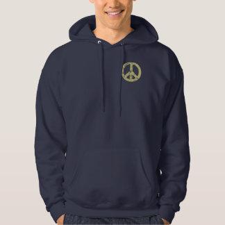 Ljust bekymrat för fredstecken tröja med luva