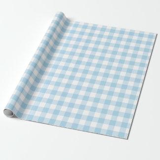 Ljust - blått- och vitGingham som slår in papper Presentpapper