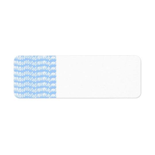 Ljust - blått- och vitsquigglemodell returadress etikett