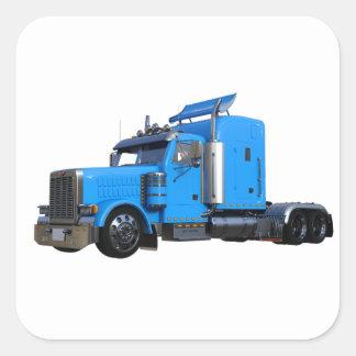 Ljust - blått som den halva lastbilen i tre fyrkantigt klistermärke