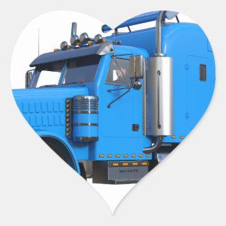 Ljust - blått som den halva lastbilen i tre hjärtformat klistermärke