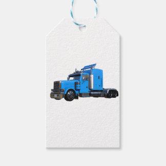 Ljust - blått som den halva lastbilen i tre pack av presentetiketter